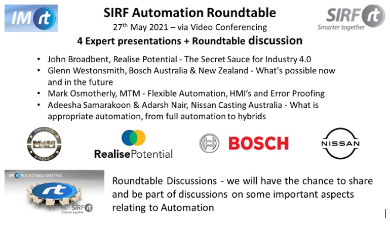Automation Roundtable 27th May!