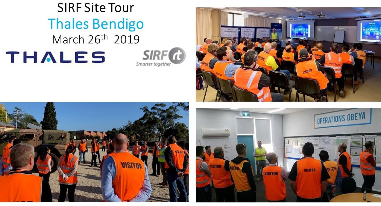 SIRF Thales Bendigo Site Tour